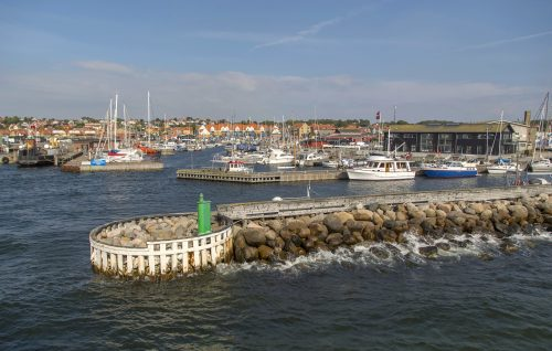 hundested denmark fishing village see land island