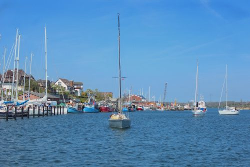 kappeln germany schrei water boats sky blue