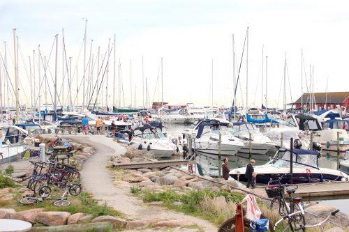 Samsø ballen denmark water sky marina boats