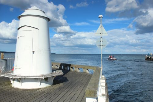 boats marina lighthouse water summer kerteminde denmark