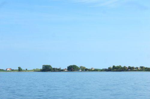 avernakø denmark water blue sky coast
