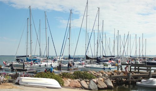 mårup samsoe denmark blue sky boats island