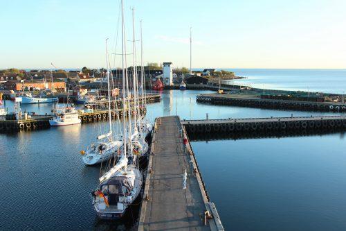 harbour bagenkop langeland denmark boatingthebaltic.com water coast blue sun boats pier